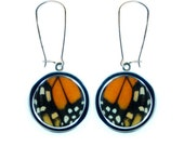 Pendant Butterfly Wing Earrings - Monarch Butterfly Wing Earring Pendants