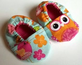 Owls  and Birds Baby Booties Size 0-3 months