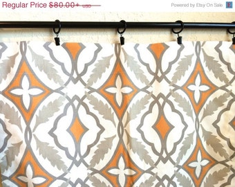 10 Off New Year Sale Orange Curtain Panels 25 Or 50 Inch