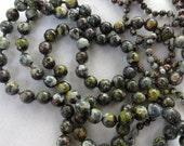 """4.5mm Wabi-Sabi Patina, Copper Ball Chain, Bulk Chain, Hand Applied Patina, by the Inch, 6"""" to 36"""""""