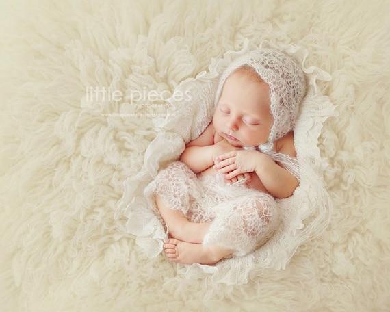PDF CROCHET Pattern - newborn photography prop dainty blossom bonnet ...