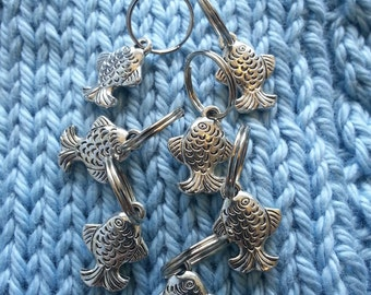 Knitting Stitch Markers - Fish