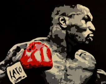 "MIKE TYSON - Art Print Reproduction 10"" x 14"" - signed by Artist"