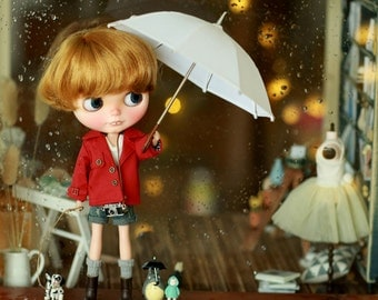 Miss yo 2015 Summer & Autumn - Miss yo Short Wind Coat for Blythe / JerryBerry doll - dress / outfit - Red