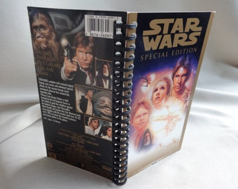Star Wars 1997 Special Edition VHS Tape Box Notebook