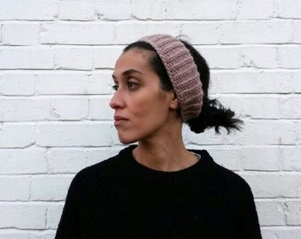Chunky knitted headband / Pink / Elodie