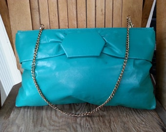 AQUA    ///    Leather 80s Clutch