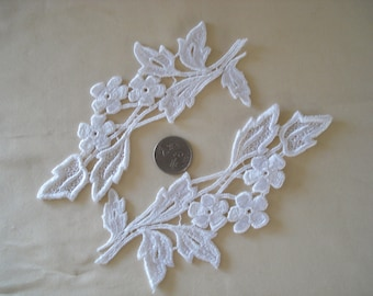 Venice Lace Appliqués In White Color.