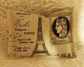 Lavender Sachet Eiffel Tower Paris Sachet with French Lavender, Lavender Room Freshener