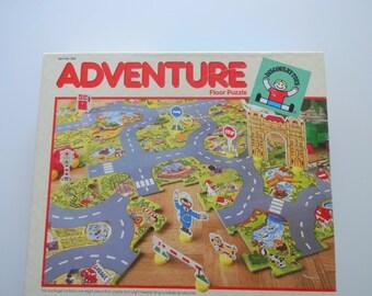 Vintage Adventure Floor Jigsaw Puzzle 1986