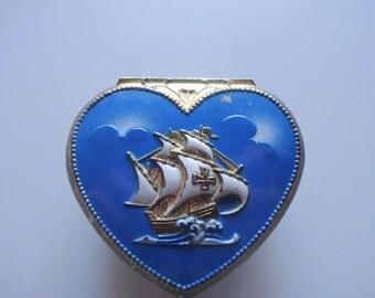 Vintage Heart Shaped Trinket Box 1960s