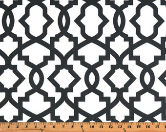 "Sheffield Shadow Black and White Contemporary Curtains Drapery Panels 25"" x 63, 72, 84, 90, 96, 108, 120 Extra Long"
