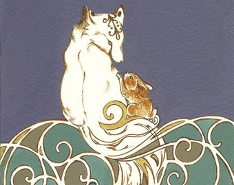 GICLÉE PRINT: Fox & Rabbit