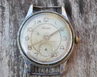Vintage Soviet wrist watch for parts.Not work.