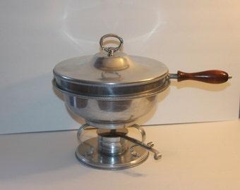 Vintage Mid Century Aluminum Chafing Dish