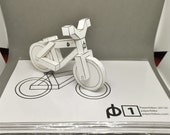 50% off - paperbikes v1 - PRINTED papercraft model kit