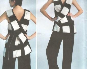 "Uncut Issey Miyake Designer Original Tunic and Pants, Vogue V1309, Sz 14 16 18 20 22, Bust 36 38 40 42 44"""