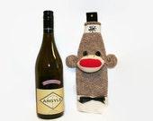 Sock Monkey Wine Bottle Cozy