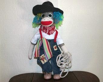 Sock Monkey Rodeo Clown