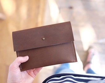 Leather Clutch | Oil Tanned