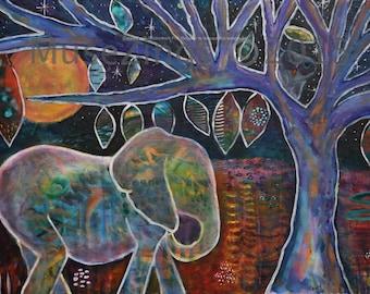 Art Print- Tribal elephant