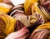 Kettle Dyed Superwash Merino Sport Weight Sock Yarn - 4 ounces, 330 yards