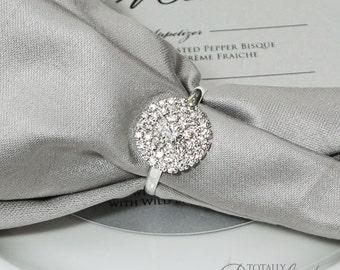 75pcs Napkin Rings, Rhinestone Wedding Napkin Rings Wedding Table Decor Wedding Bling, 544-S-N