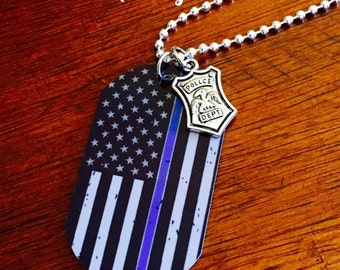 Police Support Necklace/Keychain