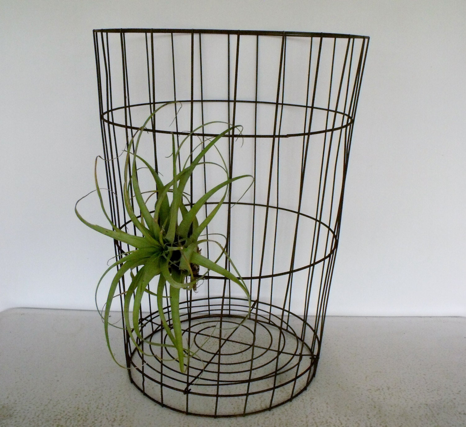 26 tall Large Wire Basket Vintage Laundry Metal