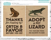 Reptiles & Amphibians Printable 5x7 Party Signs - INSTANT DOWNLOAD