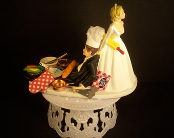 chef groom wedding cake topper no farming international harvester tractor ih by 12632