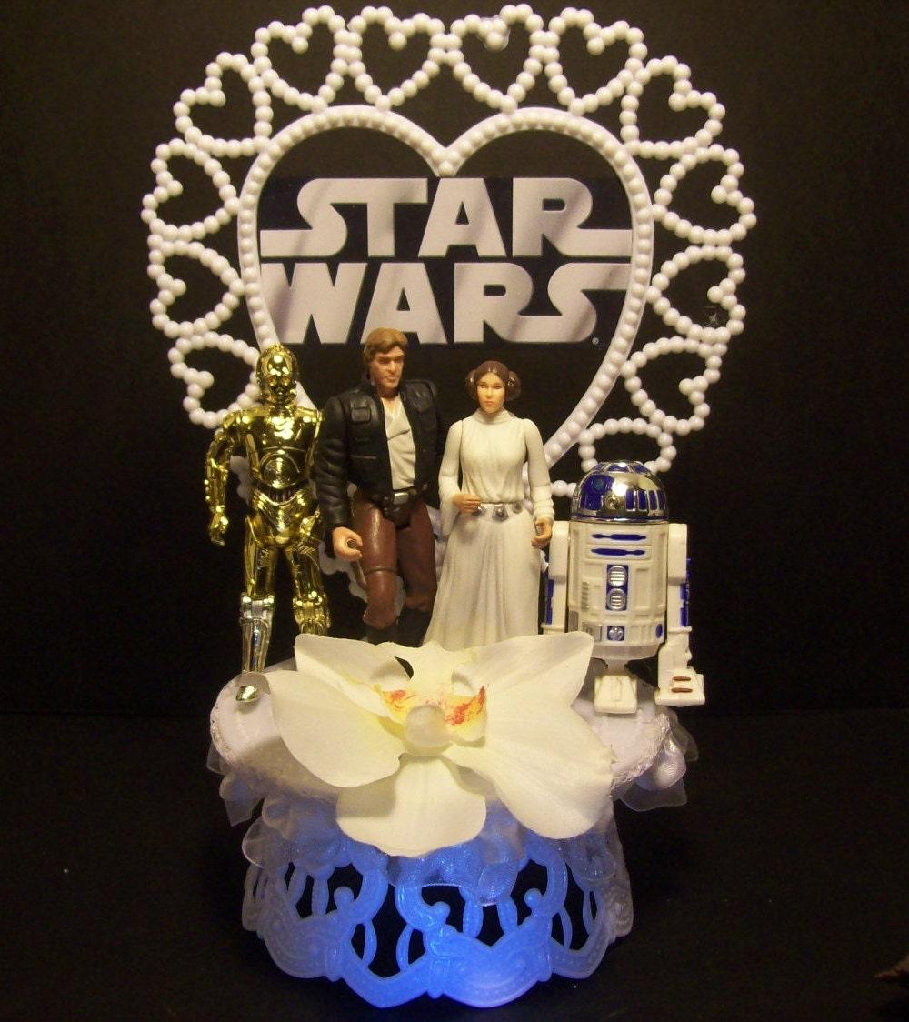 Star wars princess leia han solo r2d2 c 3po wedding cake zoom junglespirit Choice Image