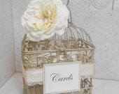 Small Champagne Gold Wedding Birdcage Card Holder / Wedding Card Box / Wedding Decor / Wedding Birdcage