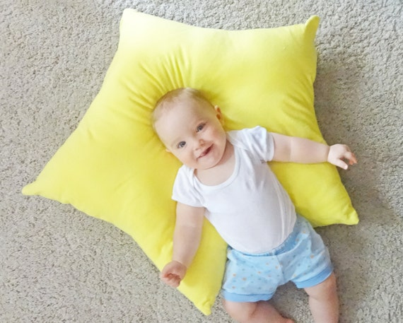 Floor Reading Pillows : Star floor pillow yellow star pillow kids floor pillow kids
