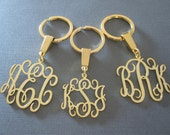 Gold Monogram Keychain - 3 different sizes