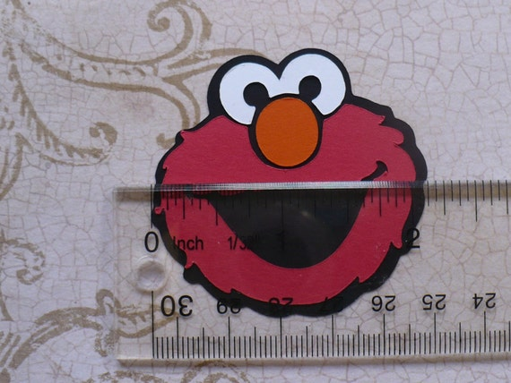 Elmo face shapes red black die cut pieces for diy tags for Elmo arts and crafts