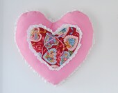 Valentine's Day Pillow Valentines Day Wall Decor Valentines Day Wall Handing Trow Pillow Heart Home Decor Heart Wall Hanging Door Decor