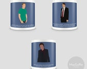 Peep Show mug - Choose from 3 characters (Made to order)