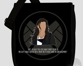 Agents of S.H.I.E.L.D. messenger bag - Choose from 10 characters (Made to order)
