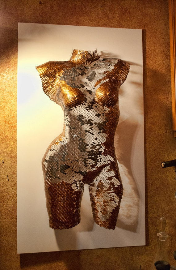 Female Torso Sculpture Dusti Wire Mesh Female...