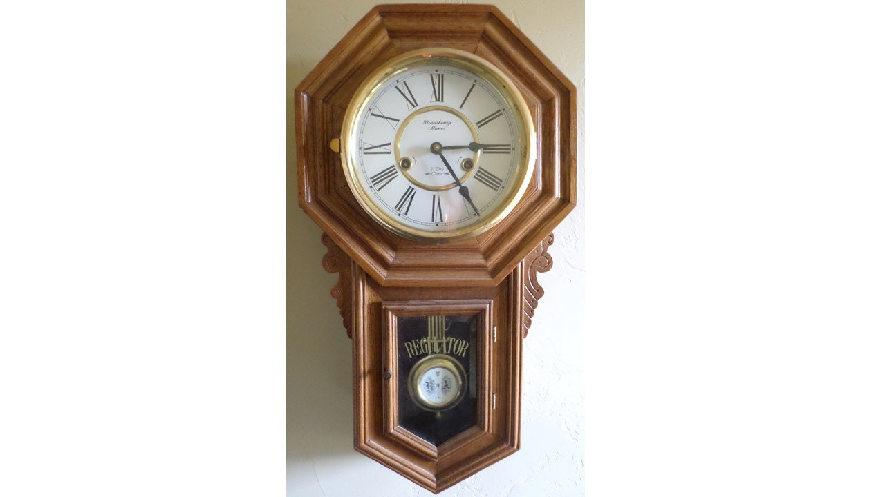 Vintage Strausbourg Manor Clock 31 Day Chime