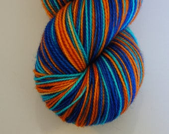 The Crab Shack in Toula Sock, Self Striping, 80/20 Superwash Fingering Sock Weight