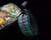 Leather Bracelet/Women's Bracelet/Women's Leather Bracelet/Black Leather Bracelet/Leather Wrap Bracelet/Beadwoven Bracelet/Tila Bead Wrap