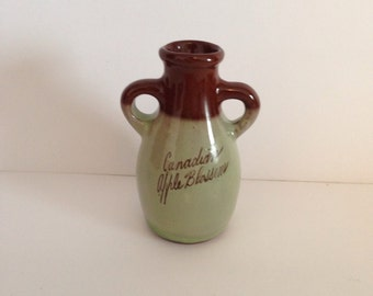 Canadian Apple Blossom Perfume Jug Empty 3 inch miniature Fragrance Jar