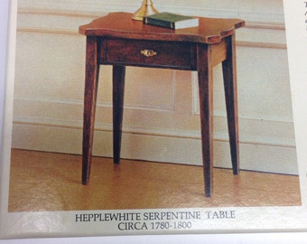 The House of Miniatures Hepplewhite Serpentine Table No 40036 Rare in original sealed packaging.