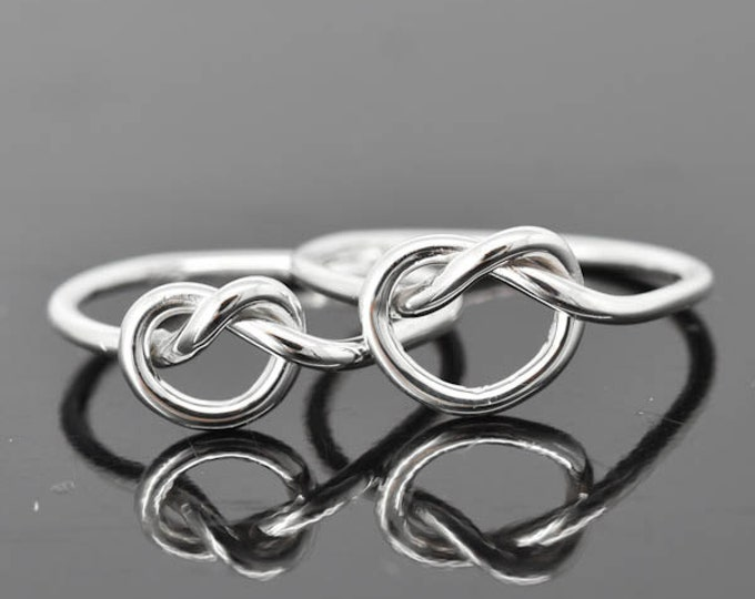 infinity ring, sterling silver ring, best friend ring, promise ring,mother daughter ring, friendship ring, sisters, bridesmaid gift, bridal