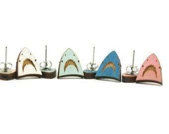 Shark Earrings - Handmade - Laser Cuts - Laser Cut Jewelry