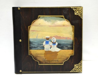 Baby books, hand painted children, nautical baby shower, nautical birthday, baby pages, children couple, little sailors