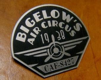 BIGELOW Air Circus Employee Badge PROP ROCKETEER
