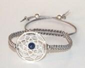 Lapis Lazuli Dreamcatcher Bracelet, Native American Inspired, boho bracelet, native bracelet, blue bracelet